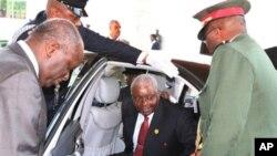 O presidente Armando Guebuza, de Moçambique