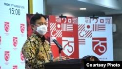 Ketua Satgas Pemulihan Ekonomi Nasional Budi Gunadi Sadikin dalam telekonferensi pers di Istana Kepresidenan Jakarta, Jumat (7/8) mengatakan setidaknya ada 13,8 juta pekerja swasta bergaji di bawah Rp5 juta yang akan menerima BLT (Setpres RI)