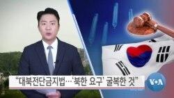 "[VOA 뉴스] ""대북전단금지법…'북한 요구' 굴복한 것"""