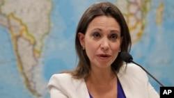 La legisladora María Corina Machado sostiene que su destitución como diputada es inconstitucional.