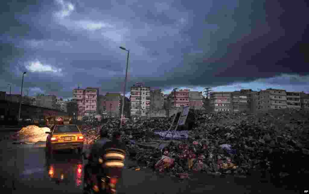 Buildings in Aleppo, Syria, December 4, 2012.
