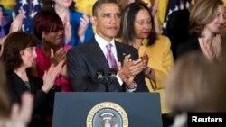 2013年5月10日美国总统奥巴马就医保改革法发表讲话(资料照片)