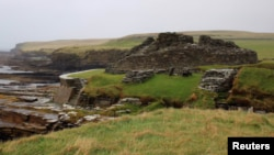 This file photo shows the exterior of Iron Age building Midhowe Broch on the island of Rousay, Orkney, Scotland, on September 25, 2019. (REUTERS/George Sargent)