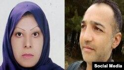 یونس قلی زاده (راست) و حکیمه احمدی، زندانی محبوس در زندان مراغه