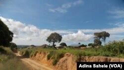 Une érosion à Nacala, Mozambique