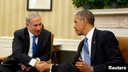 Thủ tướng Israel Benjamin Netanyahu trong cuộc gặp gỡ với Tổng Thống Hoa Kỳ Barack Obama tại Tòa Bạch Ốc, ngày 30/9/2013.