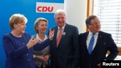 Nemačka kancelarka Angela Merkel na sastanku sa liderima Demohrišćanske unije (CDU) u Berlinu, 15. oktobra 2018.