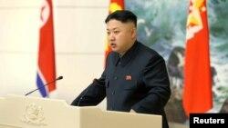 Pemimpin Korea Utara Kim Jong-un dalam salah satu acara di Pyongyang. (Foto: Dok)