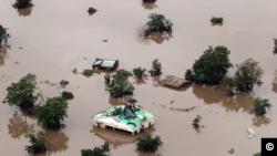 Nesta foto de arquivo, a situação no distrito de Buzi, na província de Sofala, nas cheias de 2019.