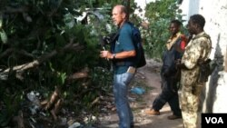 VOA's Peter Heinlein shown in this Aug. 13, 2011 file photo was recently jailed by Ethiopian authorities. (VOA Photo/G. Joselow)