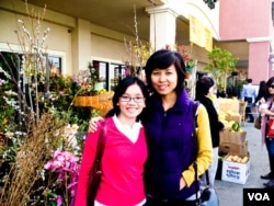 Thuy and Vu at Tet market in Little Saigon, CA
