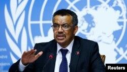 Tedros Adhanom Ghebreyesus, directeur de l'OMS, lors d'une conférence des Nations Unies à Genève, le 24 mai 2017.
