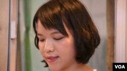 香港中文大學吐露詩社會長黃同學 (美國之音湯惠芸拍攝)