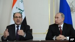 Нури Малики и Владимир Путин