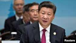Presiden China Xi Jinping saat membuka KTT G20 di Hangzhou, China, 4 September 2016 (REUTERS/Mark Schiefelbein/Pool).