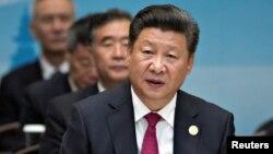 Chủ tịch Trung Quốc Tập Cận Bình phát biểu trong lễ khai mạc hội nghị thượng đỉnh G-20 ở Hàng Châu, Trung Quốc, ngày 4 tháng 9 năm 2016.