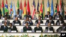 La session d'ouverture du sommet, le 30 juin