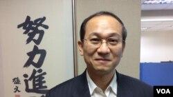 台湾国民党文传会副主委胡文琦 (美国之音记者申华 拍摄)