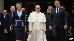 Le pape François, Cracovie, le 27 juillet 2016