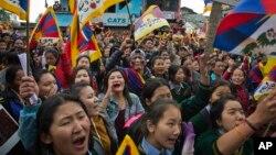 2017年3月10日,印度達蘭薩拉的流亡藏人紀念1959年3月10日拉薩暴動58週年。