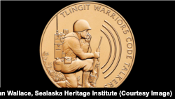 Congressional Gold Medal awarded to Alaska's Tlingit tribe in 2013 for the World War II efforts of five Tlingit servicemen.