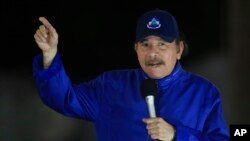 Predsednik Nikaragve Danijel Ortega na ceremoniji otvaranja nadvožnjaka u Managvi, 21. marta 2019.
