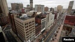 Thành phố Detroit với những tòa nhà cao tầng