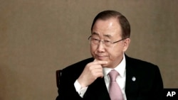 U.N. Secretary-General Ban Ki-moon attends the U.N. Academic Impact Seoul Forum in Seoul, South Korea, Wednesday, May 20, 2015.