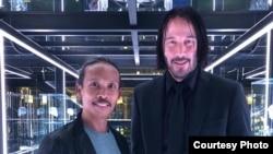 Yayan Ruhian bersama Keanu Reeves (dok: Yayan Ruhian)