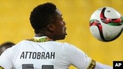 Abraham Attobrah, numéro 11 de l'équipe du Ghana