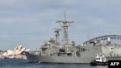 "Tàu khu trục ""HMAS Melbourne""."