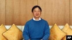 日本宫内厅公布的2015年2月11日在太子府邸拍摄的日本皇太子德仁的照片。德仁皇太子2月23日庆祝了他的55岁生日。