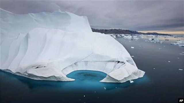 An iceberg melting off the coast of Ammasalik, Greenland (file photo)