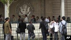 Το κτήριο της αμερικανικής πρεσβείας στο Πεκίνο, όπου πιστεύται ότι έχει διαφύγει ο Τσεν Γκουάνγκτσένγκ