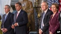 Pimpinan Kongres AS dari kedua partai politik mendukung keputusan Presiden Barack Obama untuk menunda aksi militer atas Suriah (10/9).