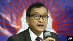 Cambodian opposition leader Sam Rainsy (September 2012)