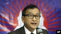 Thủ lãnh đối lập lưu vong Campuchia Sam Rainsy