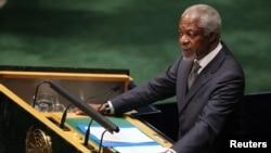 聯合國及阿拉伯國家聯盟特使科菲•安南6月7日在紐約聯合國大會就敘利亞局勢發表講話