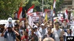 Прихильники президента Асада в дорозі до посольства Франції