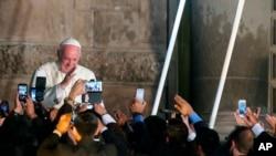 教宗方濟各在厄瓜多爾