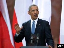 奥巴马总统发表讲话纪念波兰自由日25周年