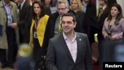PM Yunani Alexis Tsipras di Brussels, 20 Maret 2015 (Foto: REUTERS/Eric Vidal)