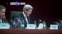 VOA60 America - Kerry Sounds Alarm of Rising Tide of Authoritarianism