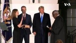 巴雷特宣誓就任美國最高法院大法官
