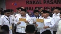 Prabowo Subianto-Hatta Rajasa Resmi Daftar ke KPU