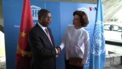 João Lourenço visita a UNESCO