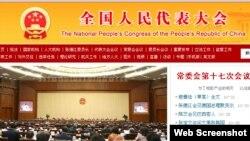 全國人大常委會第16次會議8月29日通過了《刑法修正案(九)》(中國全國人大官網截圖)