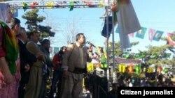 Abdullah Demîrbaş di Newrozê de axaftinek dike Entab, Adar, 21, 2014
