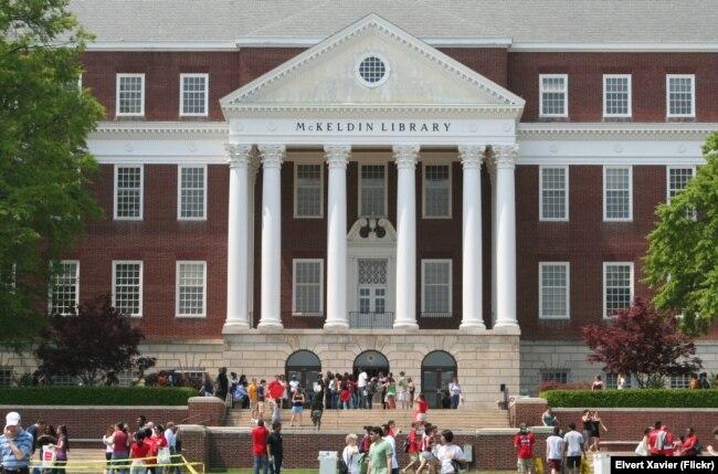 美国马里兰大学的一座图书馆(资料图)