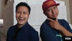 Arie Untung dan Anggy Umbara saat berkunjung ke Washington DC (foto: VOA).